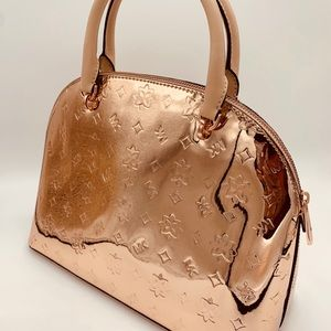 Michael Kors Bags - Michael Kors Emmy Large Dome Satchel In Rose Gold